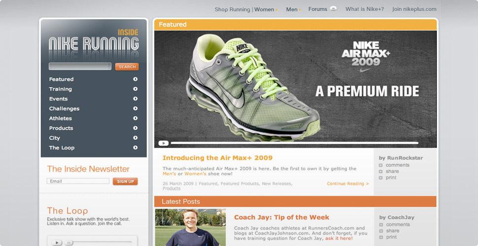 Nike Plus Blog - Homepage